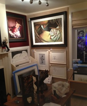 Art for sale at the Acorn Gallery, Pockington, York - interior photo