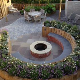 Raised lawn design by Astek Garden Design & Build - photo